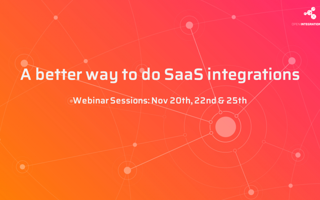November Webinars: A better way to do SaaS integrations.